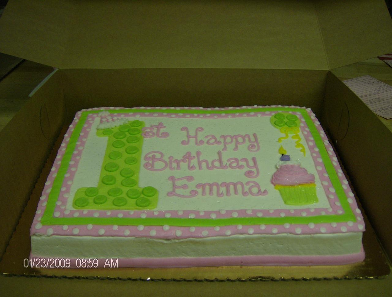 Sheet cake designs for first birthday